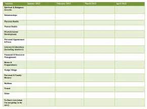 yearly and monthly goal sheet template sharing nudge