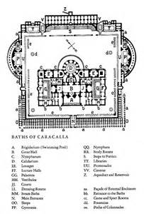 baths of caracalla plan olivia 0 architecture drawings