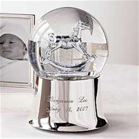 personalized rocking horse snow globe findgift com