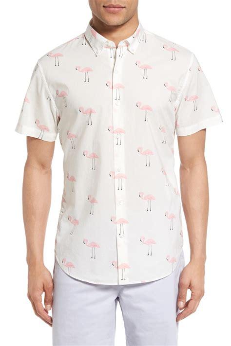Flamingo Longsleeve Shirt 1 bonobos slim fit flamingo print sleeve sport shirt for lyst