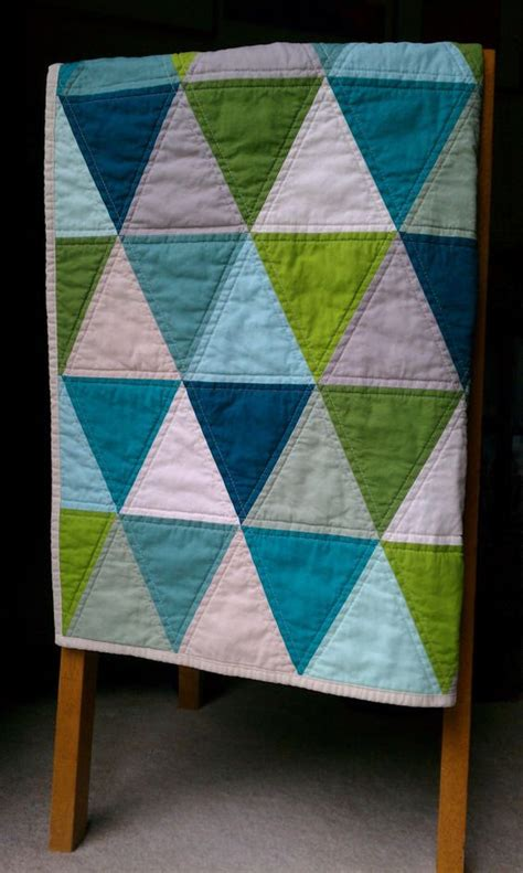 triangle pattern baby quilt pinterest the world s catalog of ideas