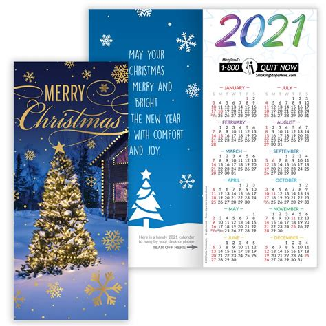 merry christmas greeting card   calendar positive promotions