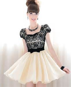 black puffy short dress samples pictures fashion gallery