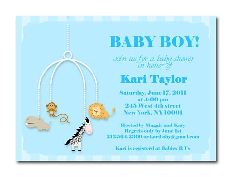 Baby Shower Invitaitons by Baby Boy Shower Invites Dolanpedia Invitations Template