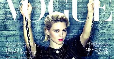 lea seydoux vogue cover l 233 a seydoux on the cover for vogue korea may 2013 magspider