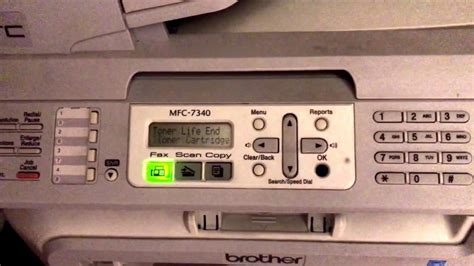 resetting brother toner life end how to reset brother mfc 7340 printer toner life end error
