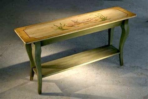 hand painted sofa table for coastal home farmhouse