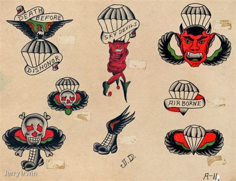 airborne tattoo designs wwii paratrooper ideas guns and freedom