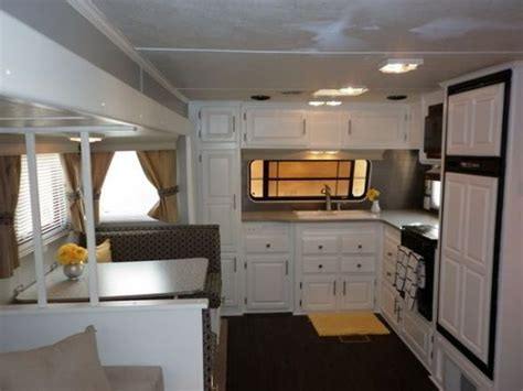rv renovation ideas cer travel trailer rv remodel my parents gave us their