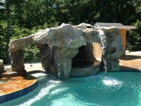 Backyard Cave Ideas Backyard Grotto Design With Waterfall And Www