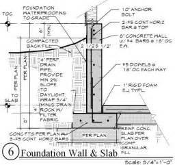 basement wall thickness retaining wall basement search detail