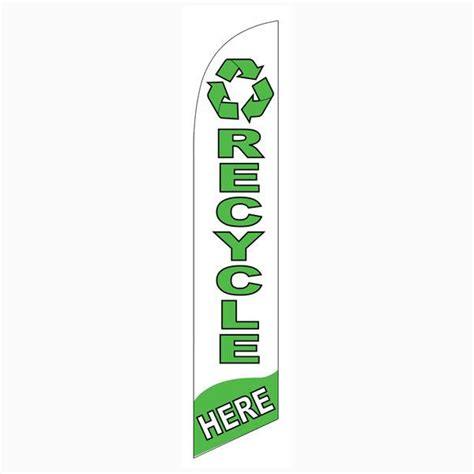 banner design recycle recycle here feather flag is a must have for all recycling