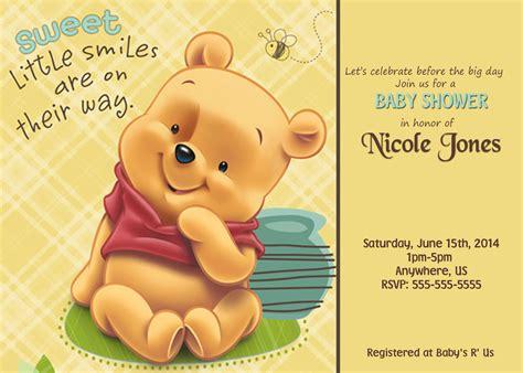 winnie the pooh birthday invitations templates free winnie the pooh baby shower invitations ideas all