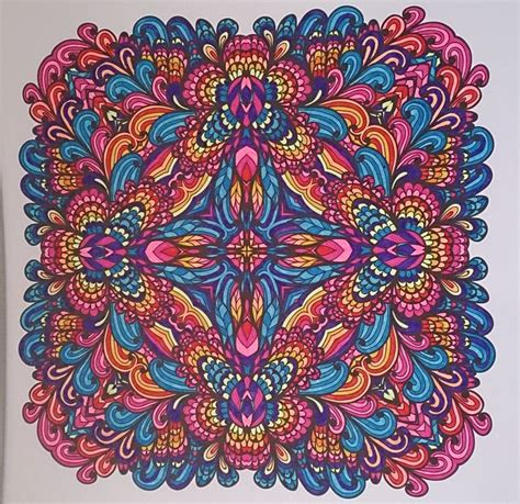 meditative mandala menagerie an advanced coloring book books ingekleurd met stabilo 68 uit het enige echte mandala