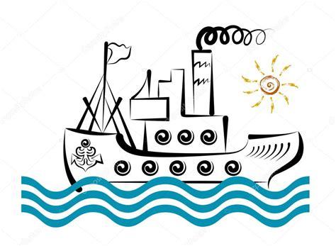 dibujo barco con olas gran barco en las olas de un mar archivo im 225 genes