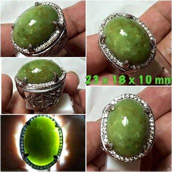 Batu Akik Giok Green Sojol Jumbo jual batu giok sojol hijau giok green sojol giok