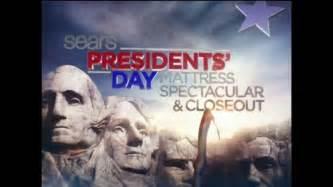 Sears Presidents Day Mattress Sale by Sears Presidents Day Mattress Sale 2014 Tv Commercial