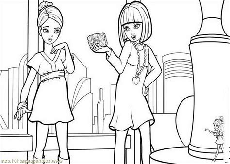 barbie thumbelina free colouring pages
