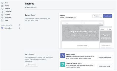shopify themes settings how to use shopify themes to quickly make online stores
