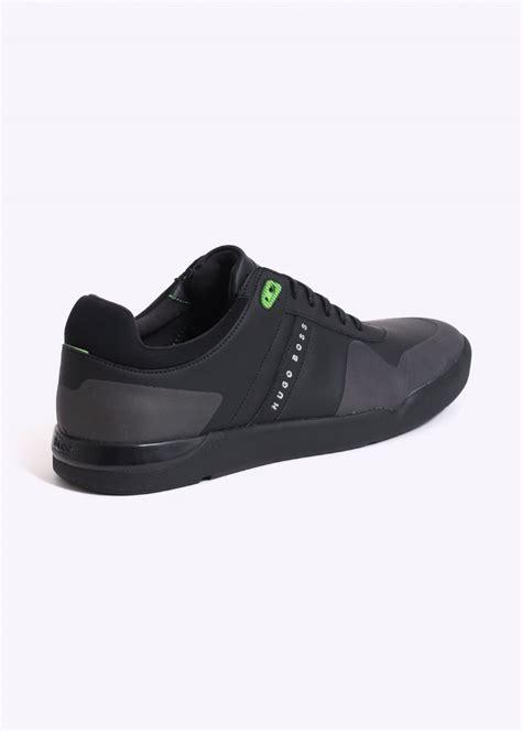 hugo boss footwear feather tennis shoes black hugo