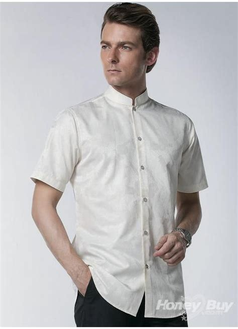design dress collars designer mandarin collar mens shirt shirt pinterest