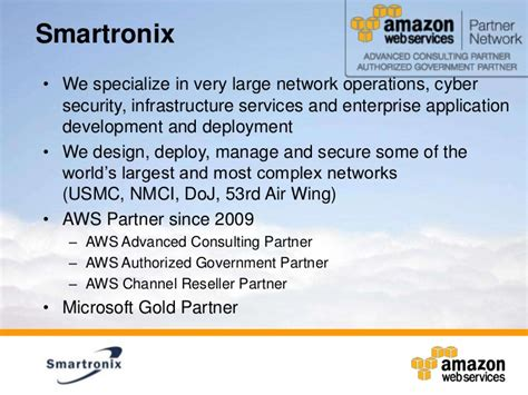 smartronix building secure applications on the aws cloud