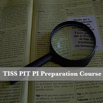 Tiss Mba Courses by Tiss Pit Pi Preparation