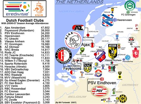 netherlands football map image gallery eredivisie map