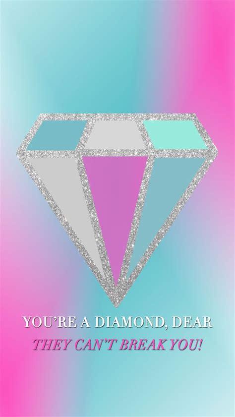 girly diamond wallpaper you re a diamond dear tech wallpaper iphone blogboss
