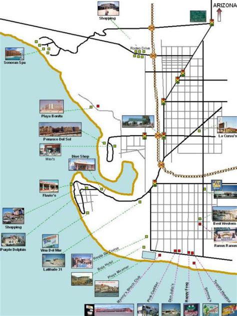 penasco map rocky point penasco mexico maps