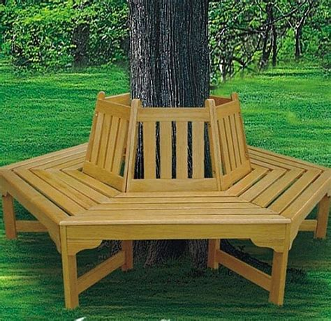 hexagonal tree bench tree bench ideas for added outdoor seating