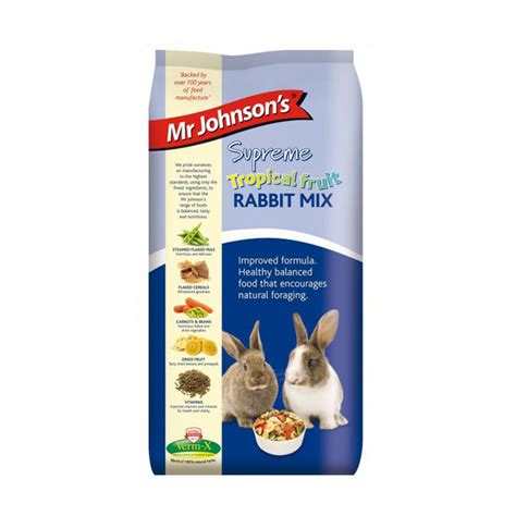 Ae102 Rabbit And Fruit Food 1 Kg mr johnsons supreme tropical fruit rabbit food 15kg feedem