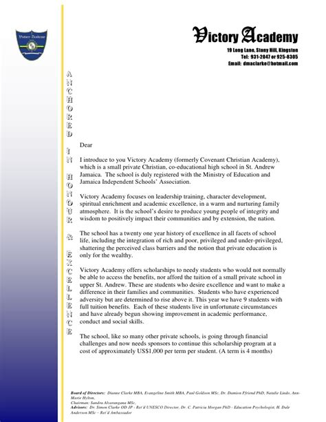 Sponsorship Marketing Letter Sponsorship Letter On Letterhead Usa 2