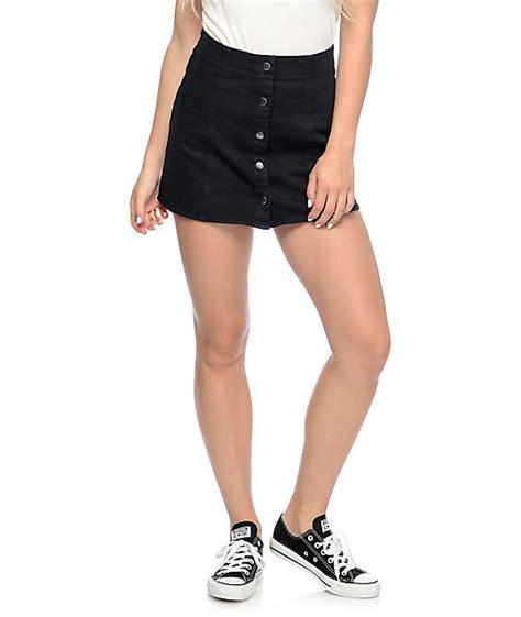 Button Front Mini Skirt empyre nikola black button front mini skirt