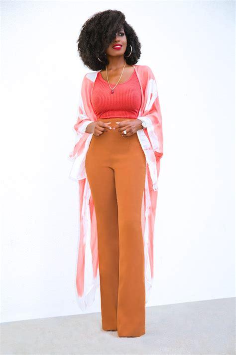 Blouse Kimono Fit L Gs print kimono ribbed tank high waist style pantry howldb