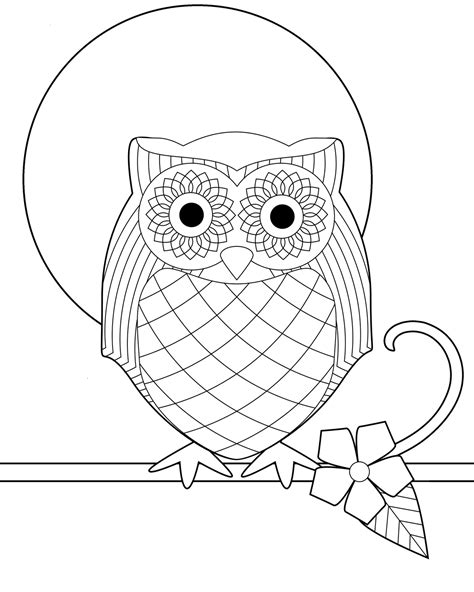 Owl Printable Coloring Pages free printable owl coloring pages for