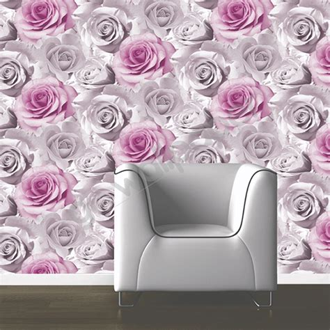 pink wallpaper for walls uk muriva madison rose floral bloom wallpaper pink