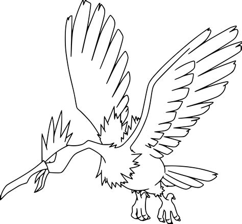coloring pages info pokemon fearow coloring page