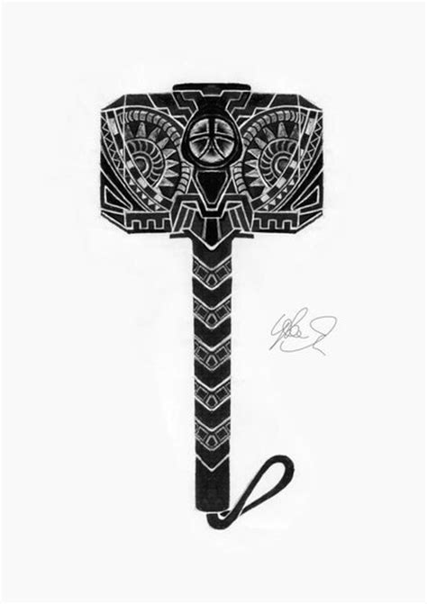 thor s hammer by lukefielding on deviantart