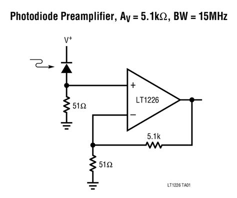 photo diode rate lt1226 low noise high speed operational lifier linear technology