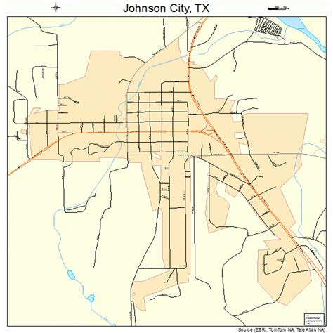 johnson county texas map johnson city texas map 4837780