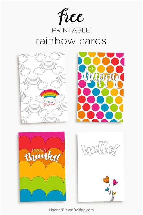 printable birthday cards rainbow 116 best images about hanna nilsson design on pinterest