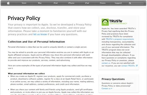 Privacy Policy Exle Template Business Privacy And Security Policy Template