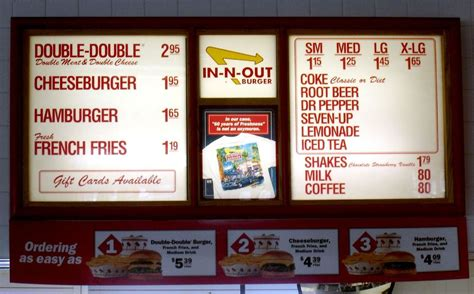 inn n out burger menu just keep it simple kolau