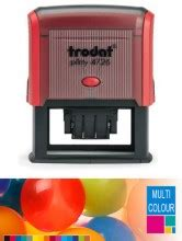 Trodat Line Dater Std 1020 multicolour trodat printy 4726 self inking rubber st