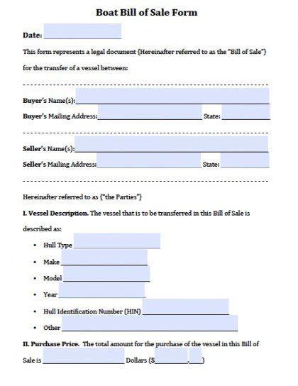 free firearm gun bill of sale forms pdf word doc