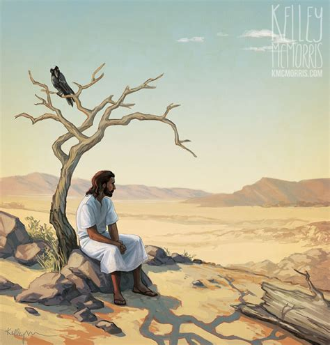 in the desert with jesus a 40 day devotional guide books kelley mcmorris illustration jesus tempted in the desert