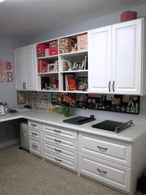 scrapbook cabinet and workstation studio design