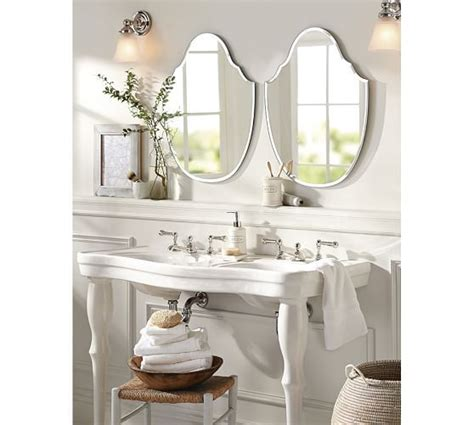 pottery barn bathroom mirror cute mirror for cooper s bathroom piper frameless