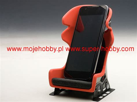 racing seat smart phone holder die cast model autoart